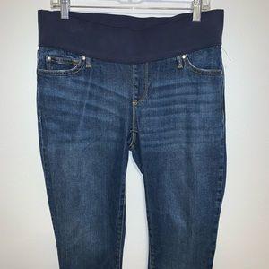 GAP Dark Denim Maternity Skinny Jeans